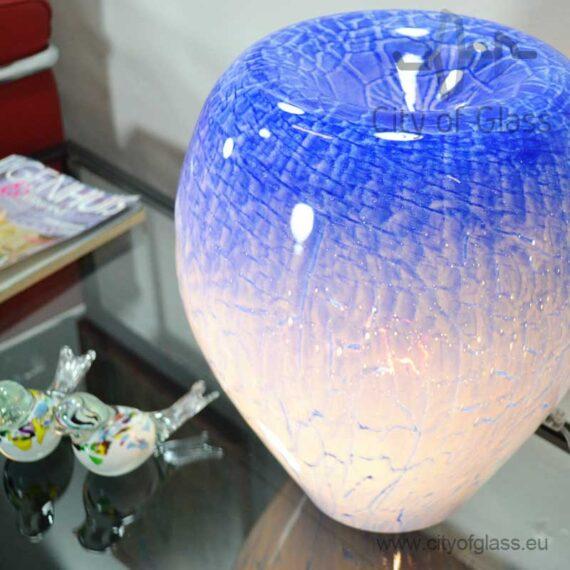 Glass lamp Blue by Loranto - 36 cm