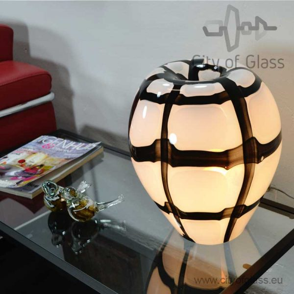 Glass lamp Check by Loranto - 36 cm