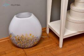 glazen lamp gold black loranto,