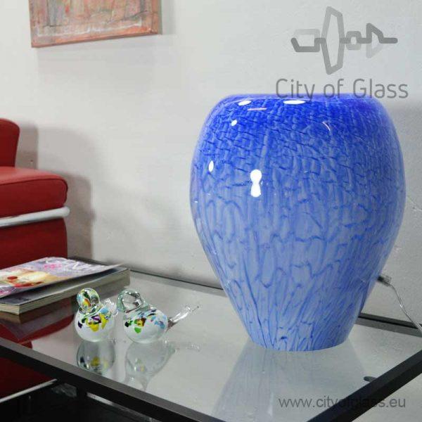 Glazen lamp Blue van Loranto - 36 cm