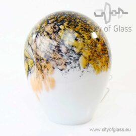 Glass lamp Gold Black by Loranto - 36 cm