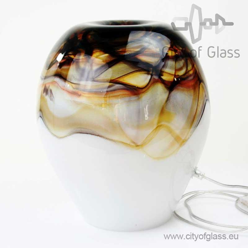 Glazen lamp Earth van Loranto - 34 cm
