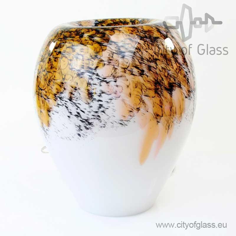 Glazen lamp Gold Black van Loranto - 34 cm