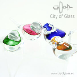 Kristallen vogel met contrastkleur van Ozzaro
