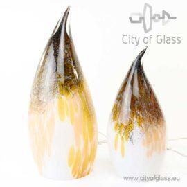 Glass lamp Gold Black Casper by Loranto