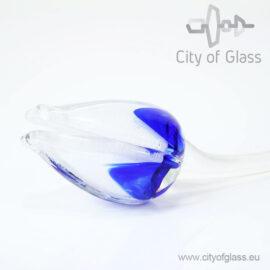 Glazen tulp van Loranto - blauw-wit