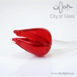 Glazen tulp van Loranto - rood