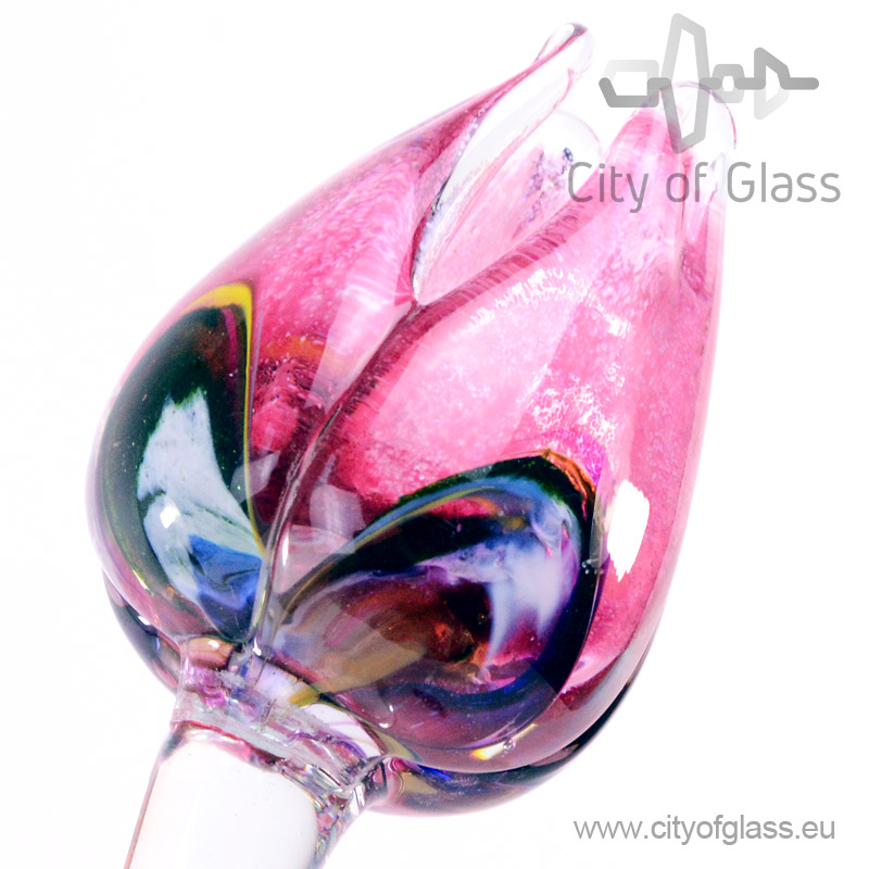 Glass tulip by Loranto - pink/multicolor