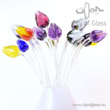 Glazen tulpen van Loranto