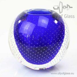 Blauwe kristallen spijkervaas of kom van Ozzaro
