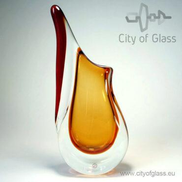 Kristallen vaas Gold van Ozzaro - 24 cm en 42 cm