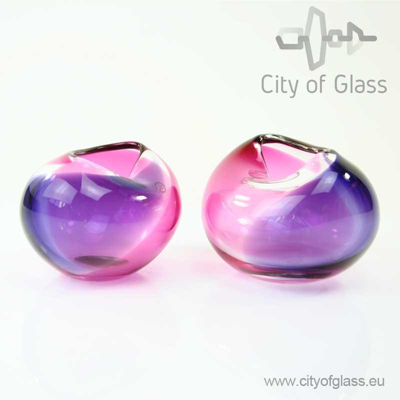 kristallen vaas violet van Ozzaro