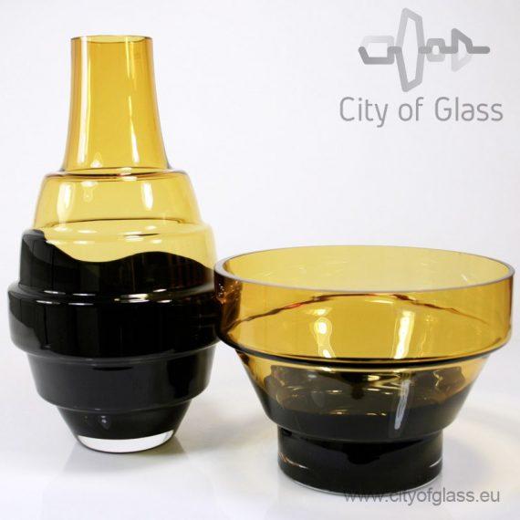Design vase Amber/black