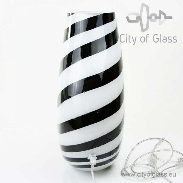 Glazen lamp Zebra 40 cm