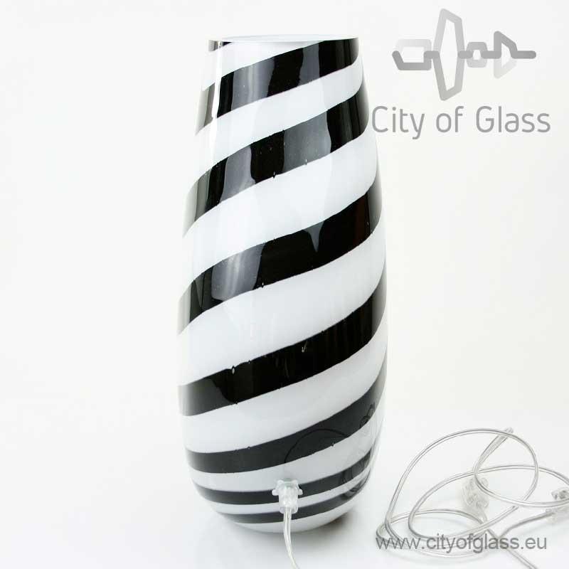 Glazen lamp Zebra van Loranto - 40 cm