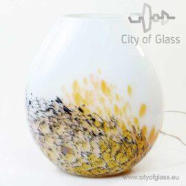 Glass lamp Gold Black by Loranto - 40 cm