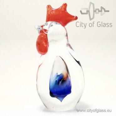 Glazen kip of haan van Loranto - haan
