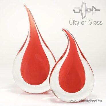 Kristallen druppel van Ozzaro rood - 35 cm