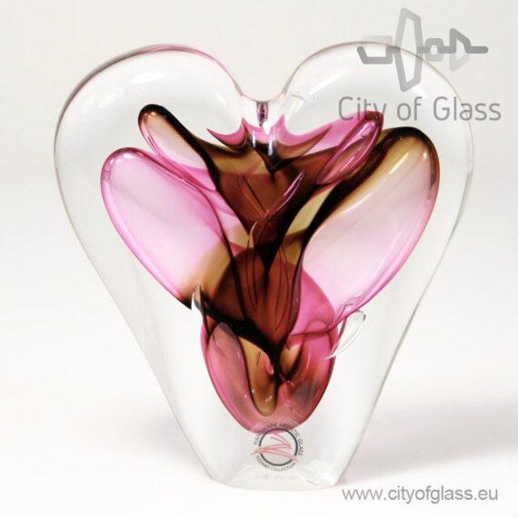 Kristallen hart rood/bruin