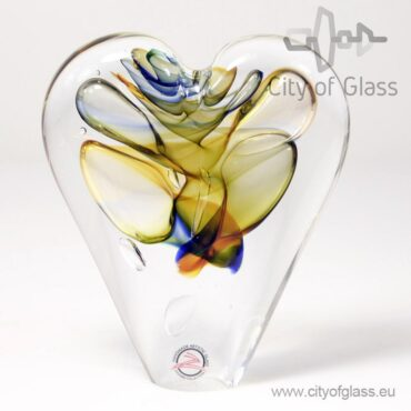 Kristallen hart geel/bruin