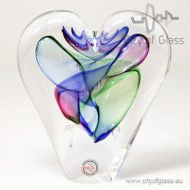 Kristallen hart blauw/groen
