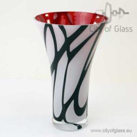 wit zwarte vaas van Loranto 27 cm