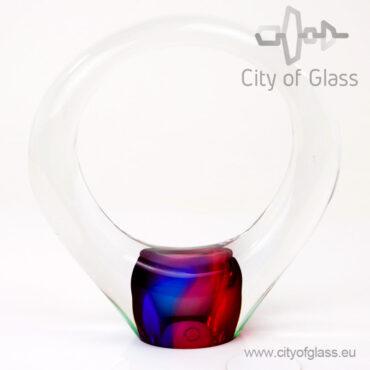Kristallen cirkel urn - veelkleurig