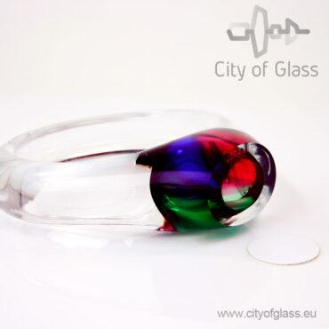 Crystal circle urn - multicolored