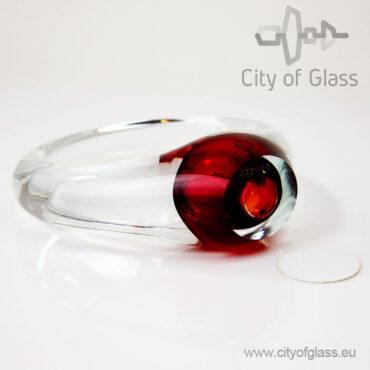 Kristallen cirkel urn - rood