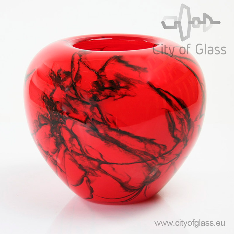Rode bolle vaas Inferno van Loranto