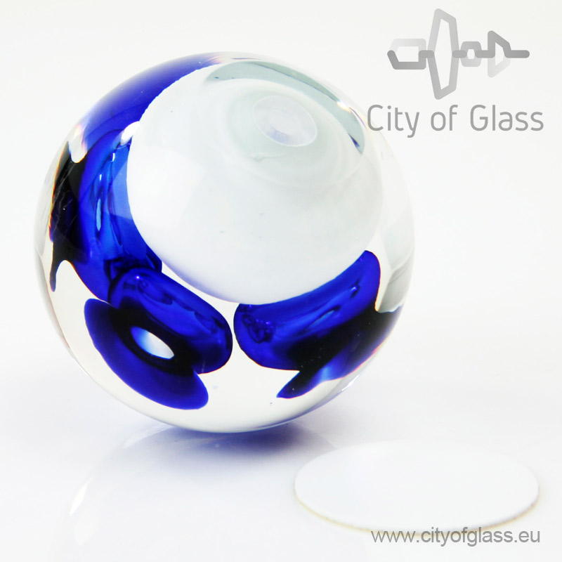 Crystal ball urn - blue
