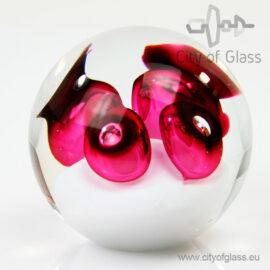Kristallen bol urn - rood