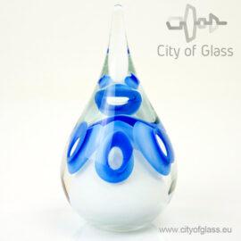 Kristallen druppel urn - blauw