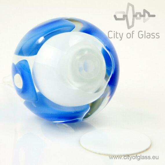 Crystal drop urn - blue