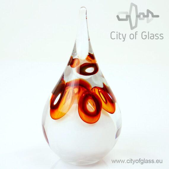 Kristallen druppel urn - bruin
