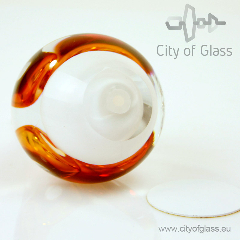 Kristallen druppel urn van Ozzaro bruin - 15 cm