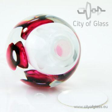 Crystal drop urn - red