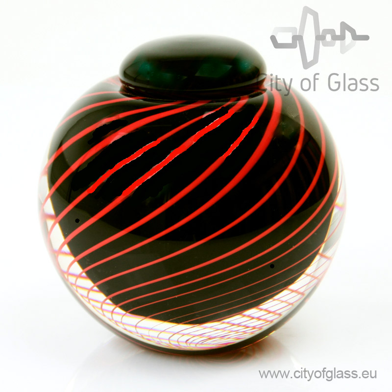 Urn Black & Red - 11 cm