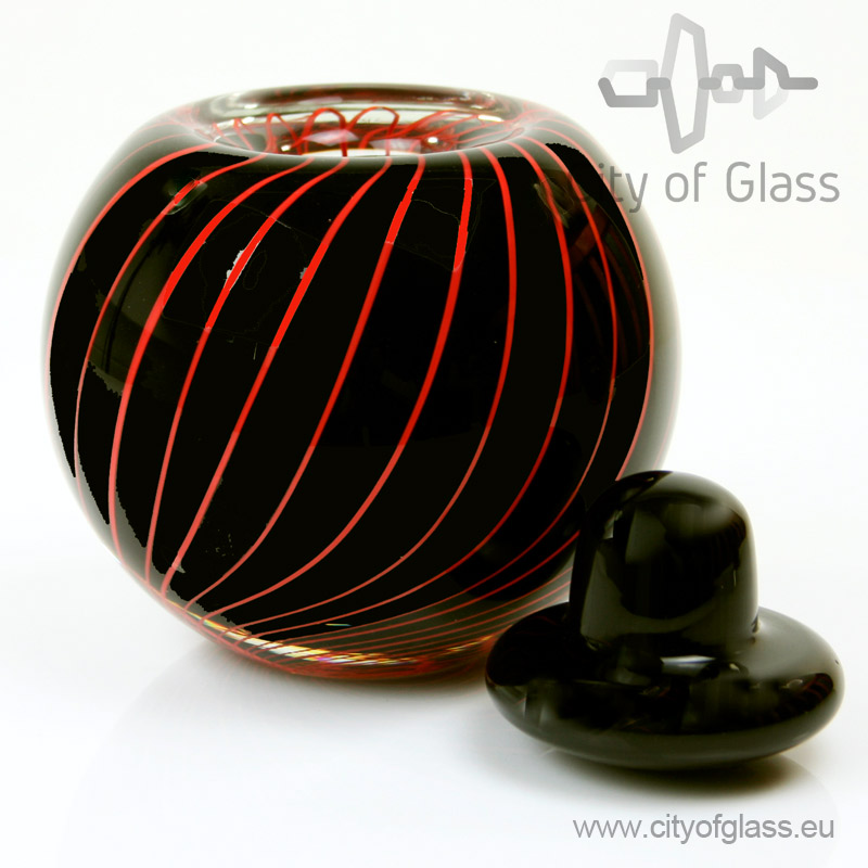 Urn Black & Red - 14 cm
