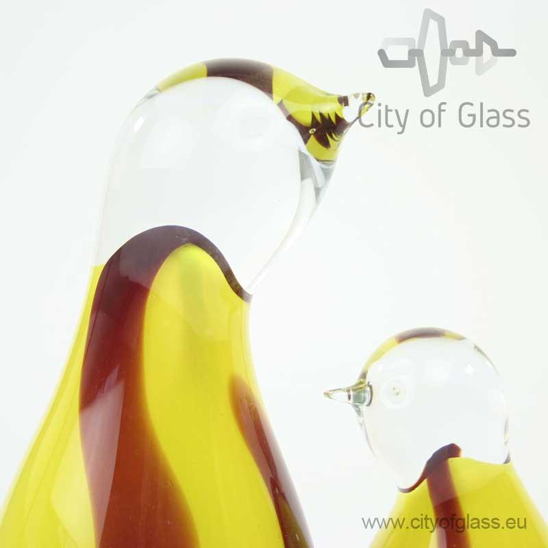Glazen pinguïn van Loranto - geel