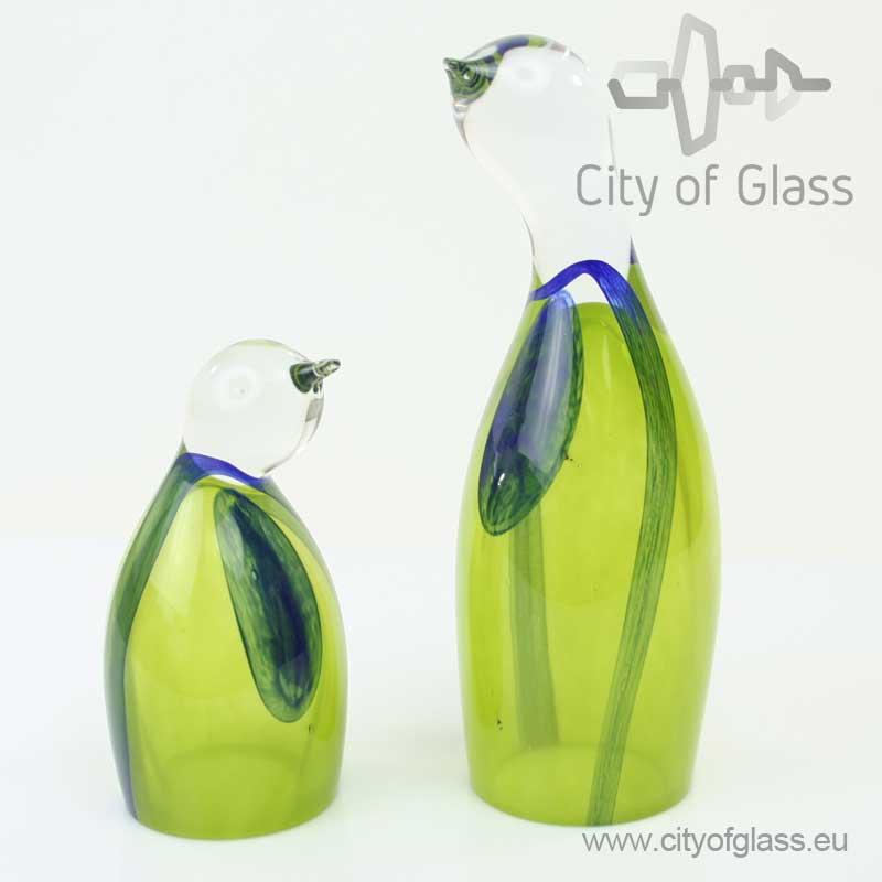 Glazen pinguïn van Loranto - groen