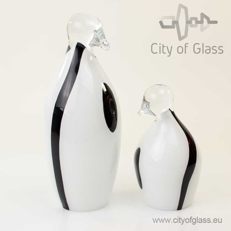Glazen pinguïn van Loranto - wit