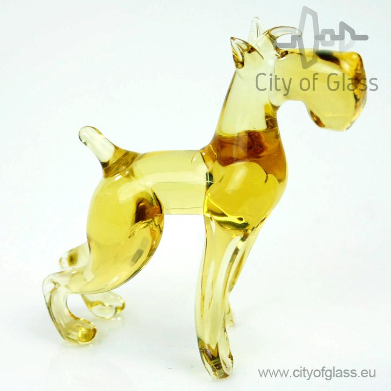 Glazen figuur Schnauzer van Loranto