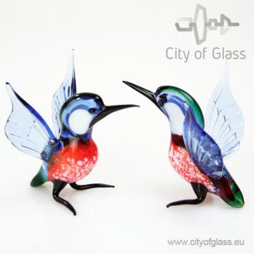 Glazen figuur ijsvogel van Loranto