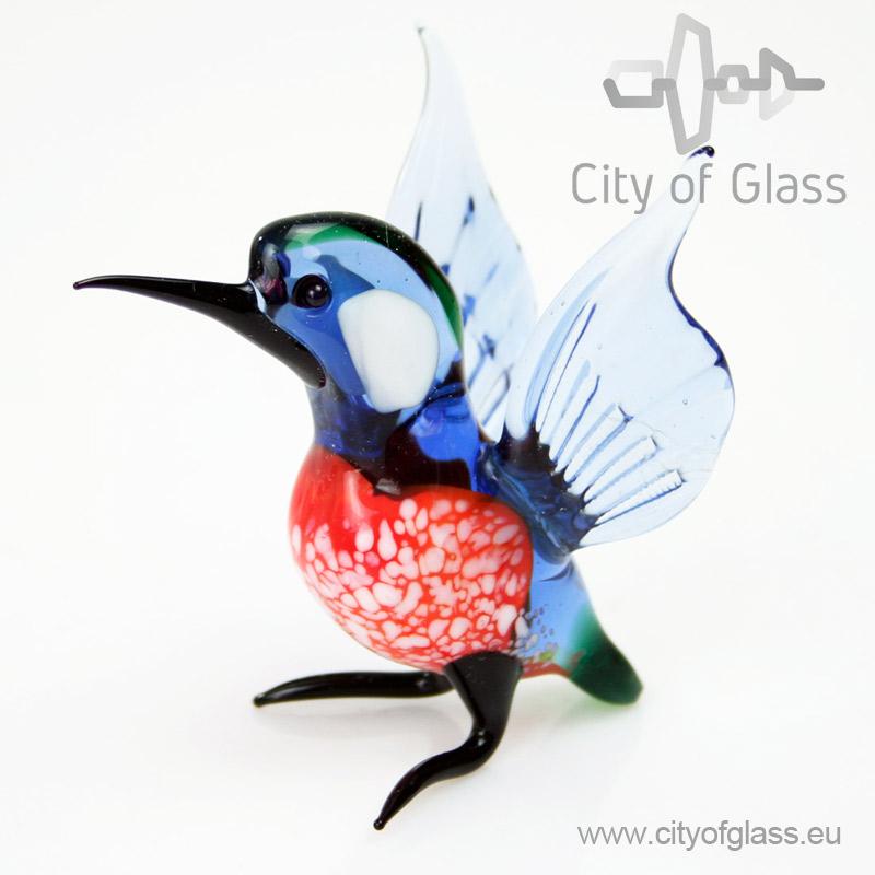 Glass figurine Kingfisher by Loranto