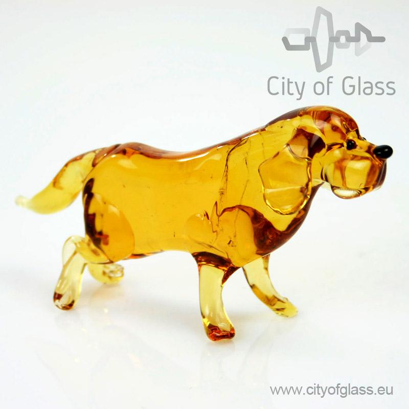 Glazen figuur hond - labrador retriever van Loranto