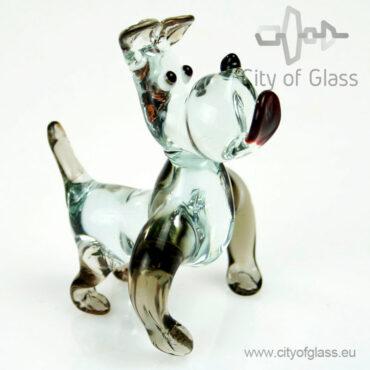 Glazen figuur hond - bulldog van Loranto