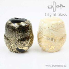 Murano glasobject Uil met bladgoud
