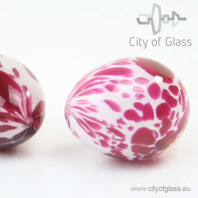 Kleurig glazen ei van Loranto - 7 cm