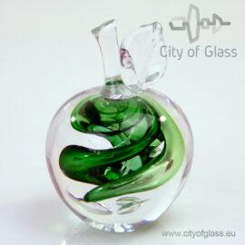 Kristallen appel en peer van Ozzari - groen